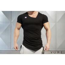 YUREI – asymmetric V neck BLACK OUT