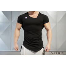 YUREI – asymmetric V neck BLACK OUT