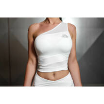 CHIONE Crop Top – White Ivory