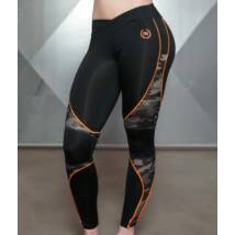 ARES Camo Legging – Black & Dutch Orange