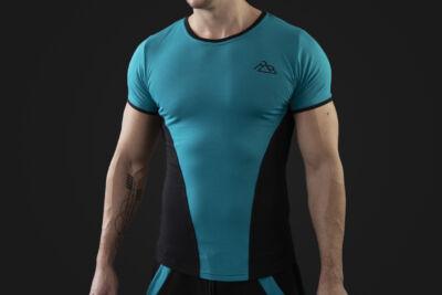 Acrylic t-shirt Turquoise-black