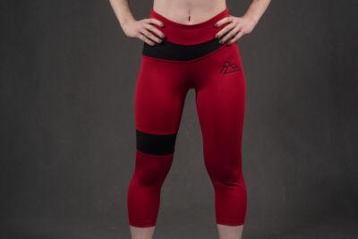 Rebel 3/4 leggings RED