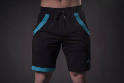 Acrylic short Turquoise-black