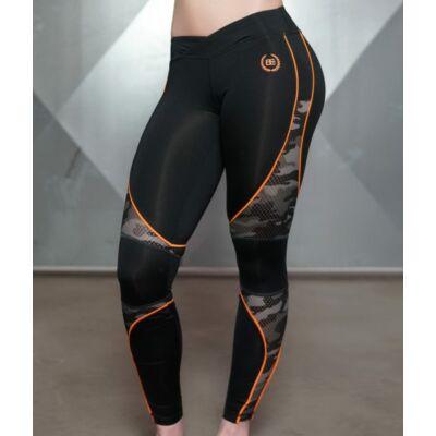 ARES Camo Legging – Black & Dutch Orange