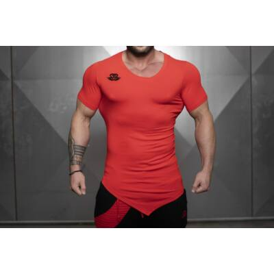 YUREI X Prometheus 3.0 – asymmetric V neck Fire Red