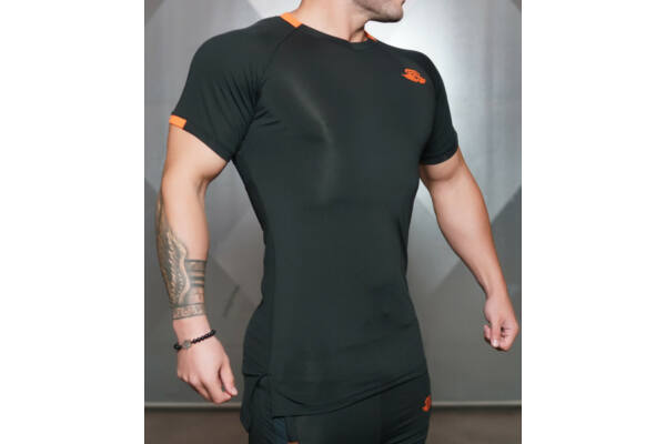 ANAX Performance Shirt – Black & Dutch Orange